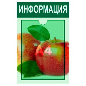информационный стенд 1 карман А4 полноцветная печать