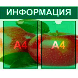 информационный стенд 2 карман А4 полноцветная печать