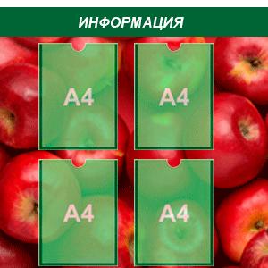 информационный стенд 4 карман А4 полноцветная печать