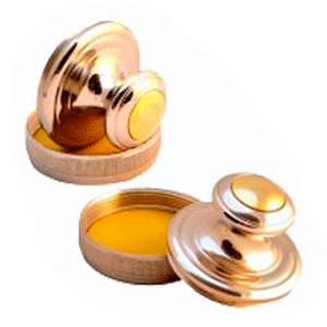 Ручная металлическая оснастка для печати Евро-3 D42 никель-золото