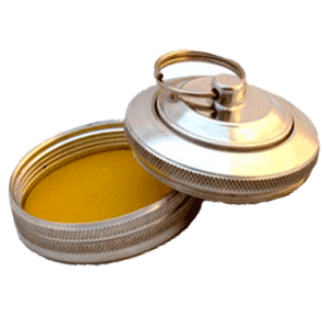 ручная металлическая оснастка со встроенной штемпельной подушкой Брелок - кнопка