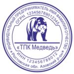 Образец печати ип с логотипом Ростов 7