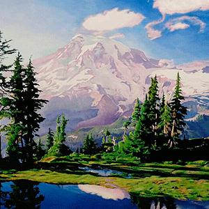 пейзажи на холсте